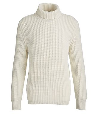 0 4 6 5 1 / A TRIP IN A BAG Cable Knit Cashmere Turtleneck
