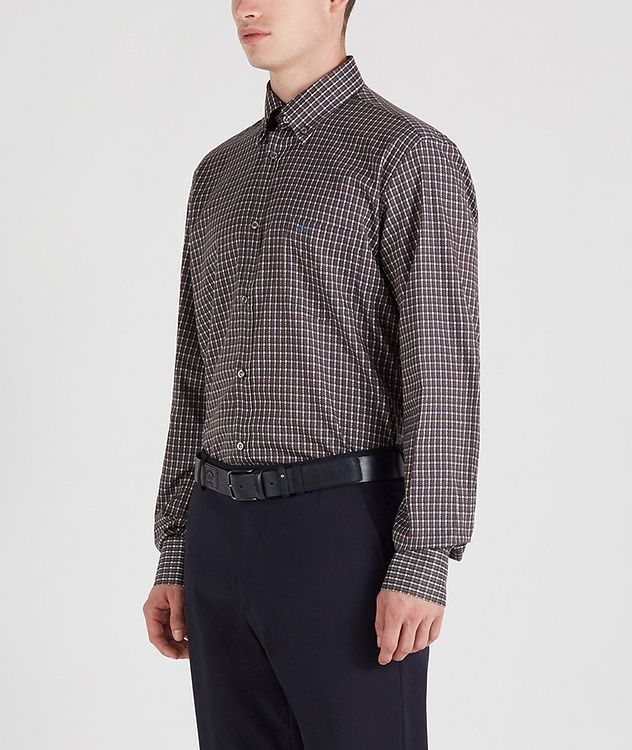 Houndstooth Cotton Sports Shirt picture 2