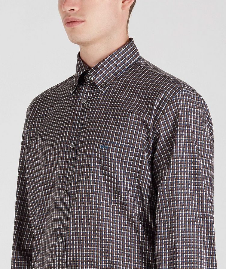 Houndstooth Cotton Sports Shirt image 4