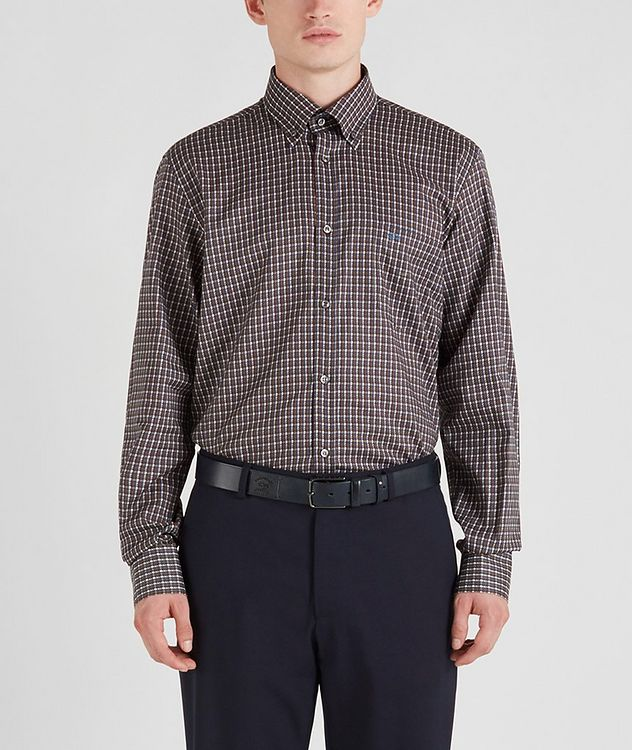 Houndstooth Cotton Sports Shirt picture 1