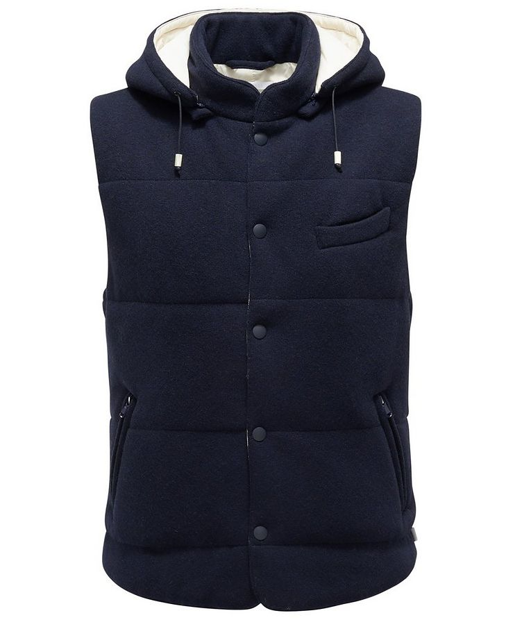Hooded Wool Vest image 0
