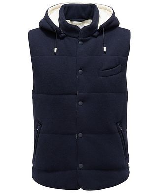 0 4 6 5 1 / A TRIP IN A BAG Hooded Wool Vest