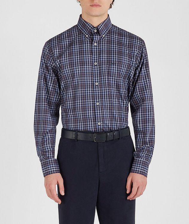 Plaid Cotton Sports Shirt picture 2