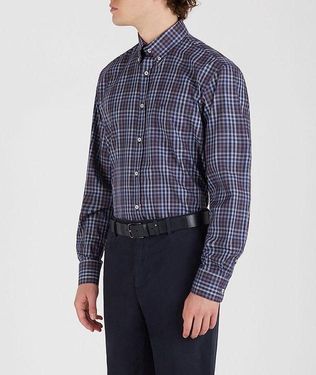 Plaid Cotton Sports Shirt picture 3