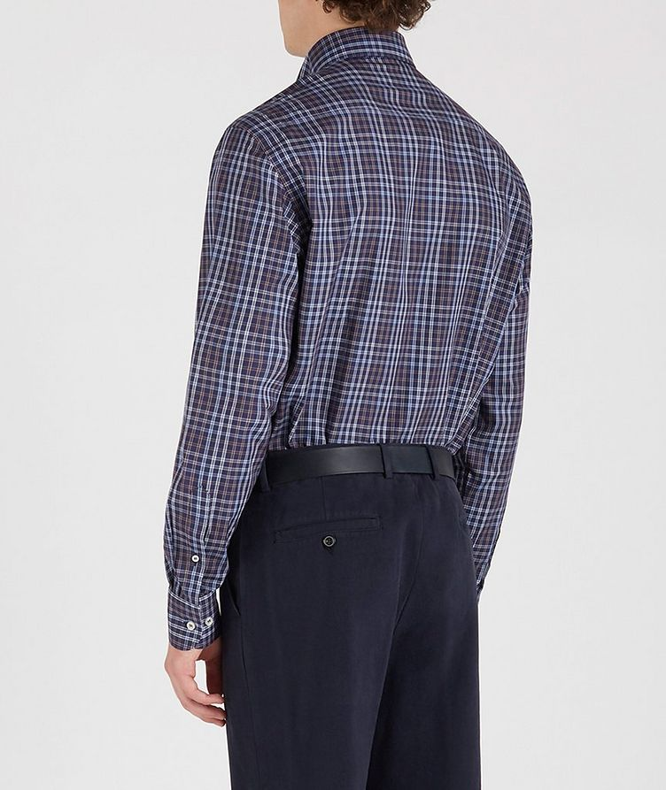 Plaid Cotton Sports Shirt image 3
