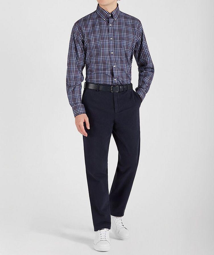 Plaid Cotton Sports Shirt image 4