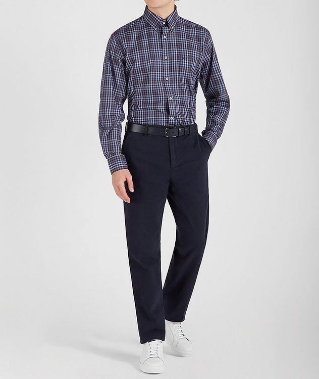 Plaid Cotton Sports Shirt picture 5