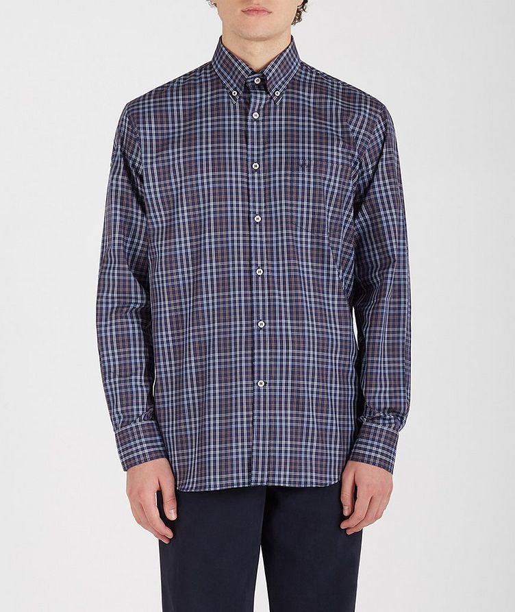 Plaid Cotton Sports Shirt image 0