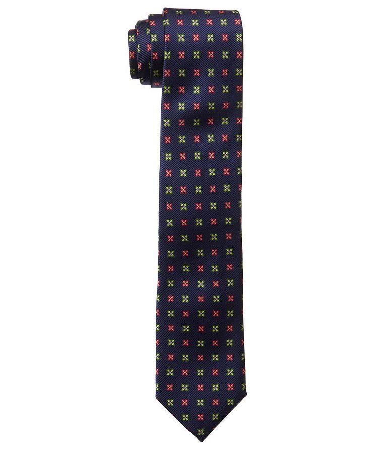 Neat Print Silk Tie image 0