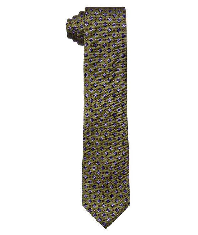 Neat Print Silk Tie picture 1