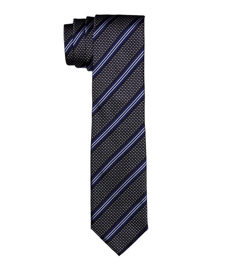 Cravate en soie à rayures image 0