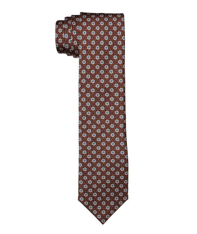 Cravate en soie à motif floral image 0