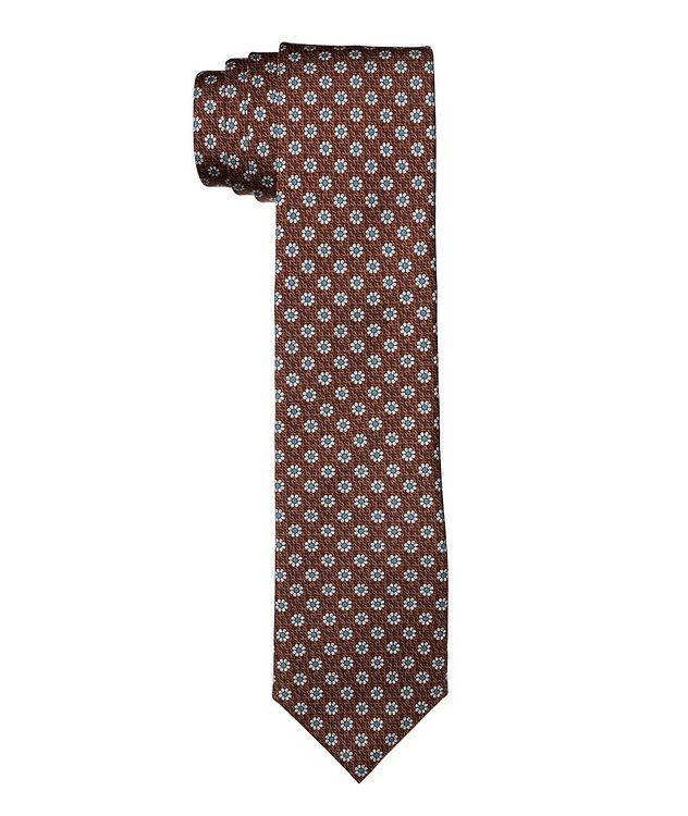 Cravate en soie à motif floral picture 1