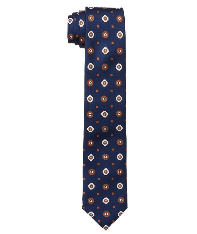 Neat Printed Silk Tie picture 1