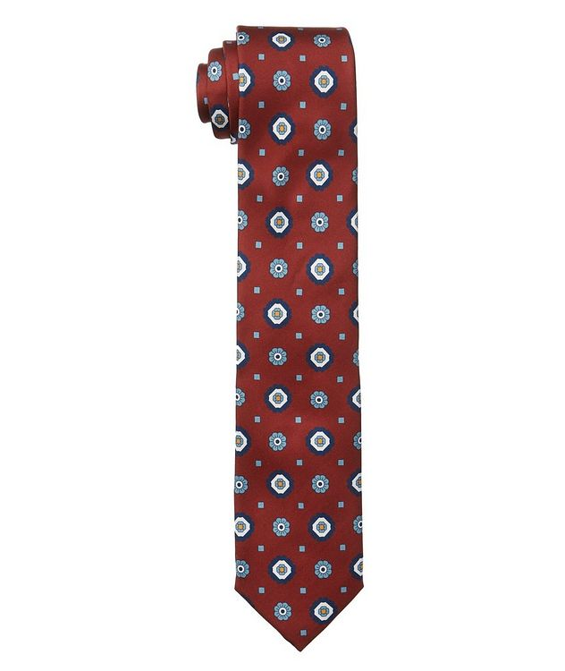 Neat Print Silk Tie picture 1