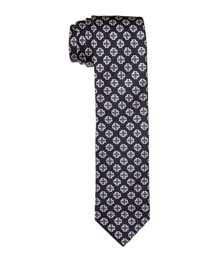 Printed Wool-Silk Tie image 0