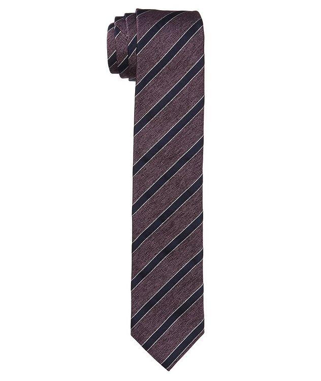 Striped Silk-Cotton Tie picture 1