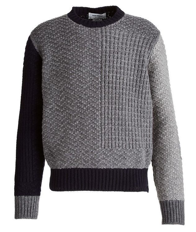 Paneled Wool Sweater picture 1
