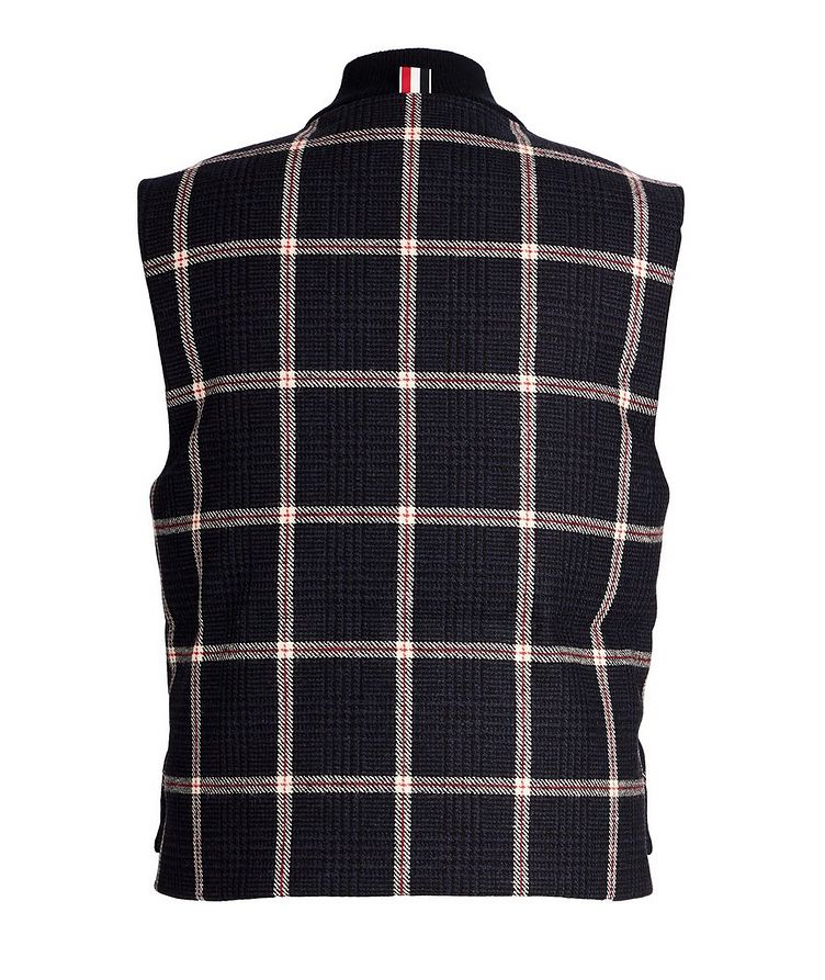Checked Down Vest image 1