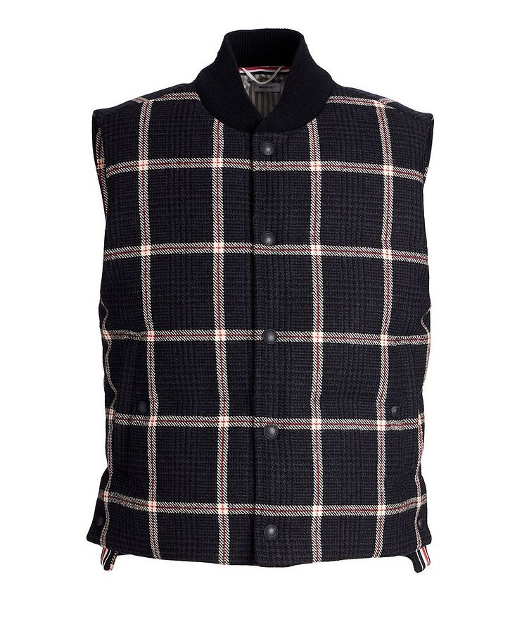 Checked Down Vest image 0