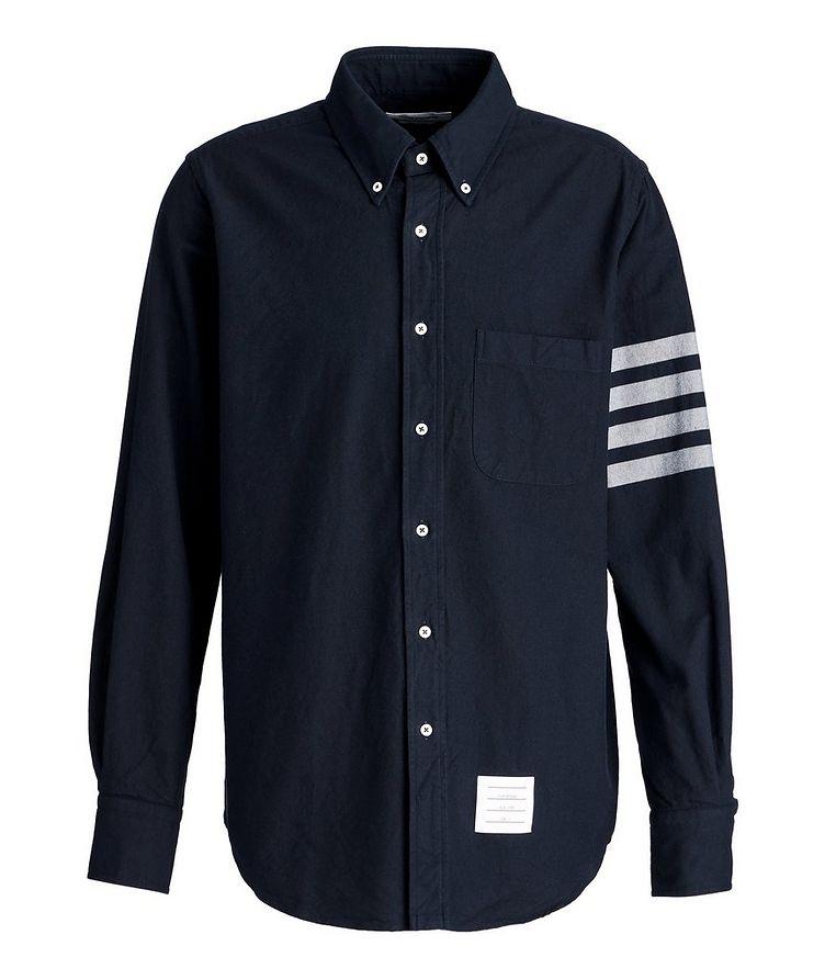 Striped-Sleeve Cotton Shirt image 0