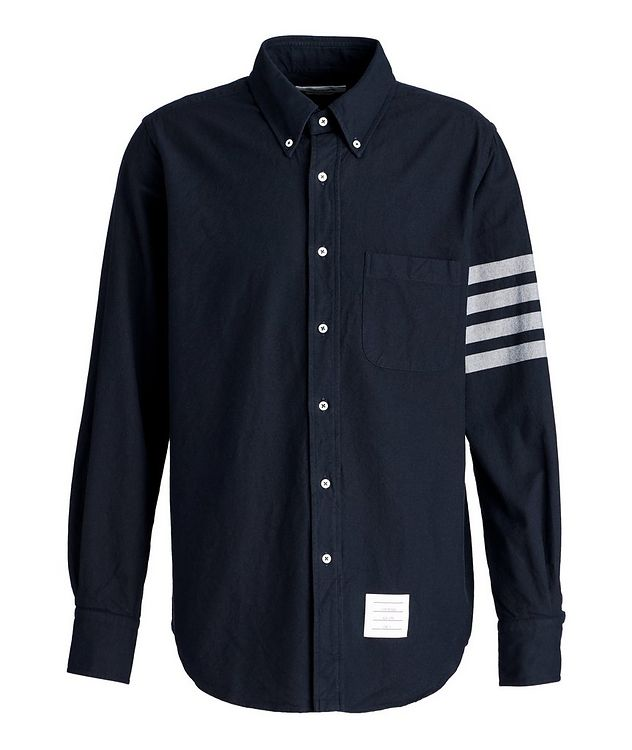 Striped-Sleeve Cotton Shirt picture 1