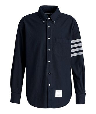 Thom Browne Striped-Sleeve Cotton Shirt