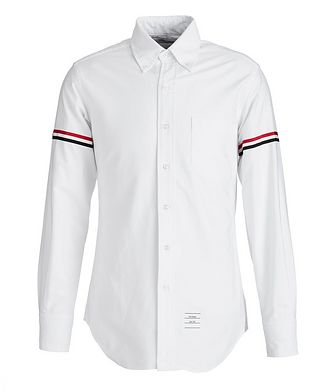 Thom Browne Grosgrain-Trimmed Cotton Shirt