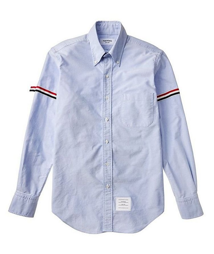 Grosgrain-Trimmed Cotton Shirt image 1