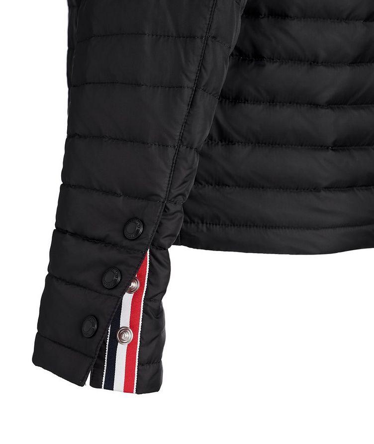Manteau en duvet surpiqué à capuchon image 2