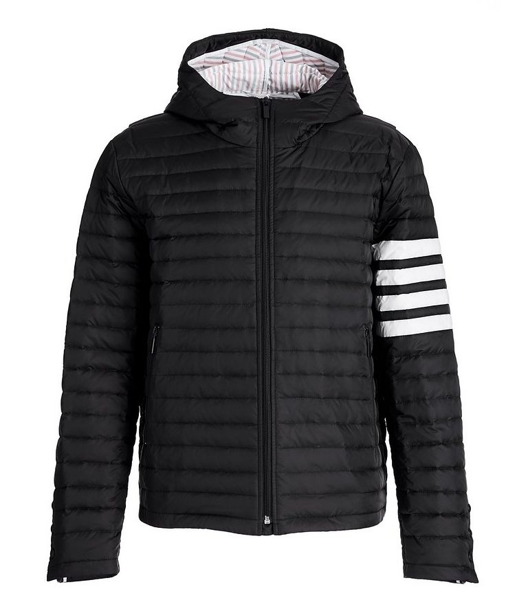 Hooded Quilted Down Jacket image 0