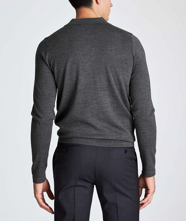 Long-Sleeve Wool Polo picture 3