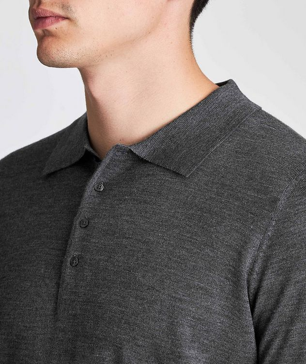 Long-Sleeve Wool Polo picture 4