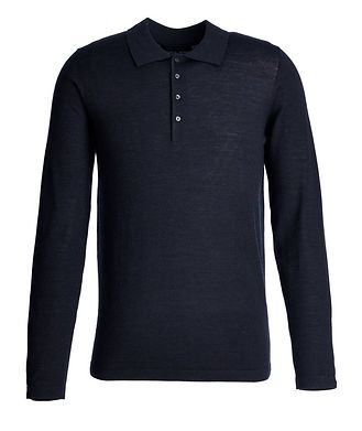 Patrick Assaraf Long-Sleeve Wool Polo