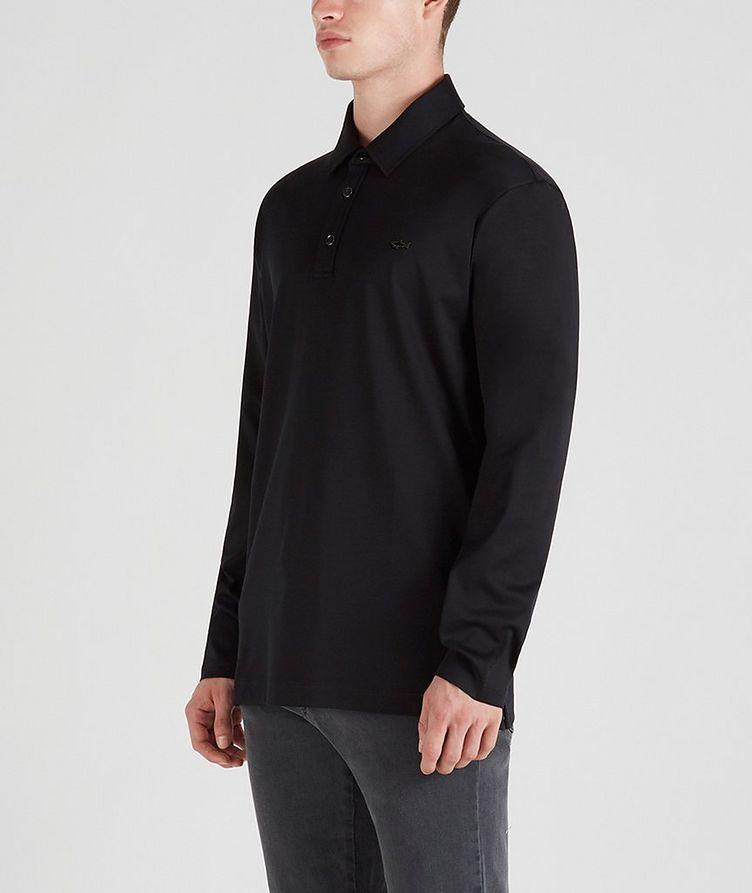 Cotton Long-Sleeve Polo image 1