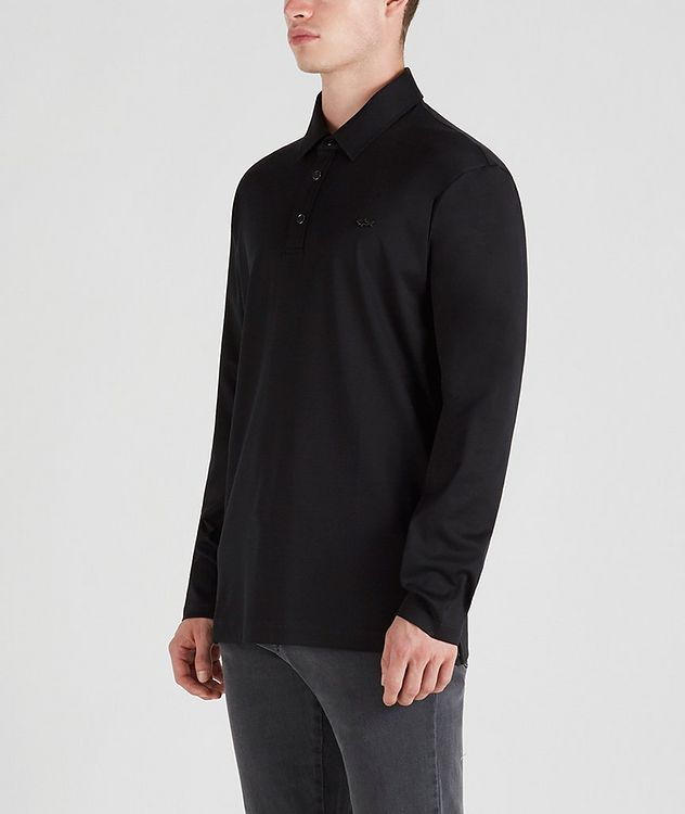Cotton Long-Sleeve Polo picture 2