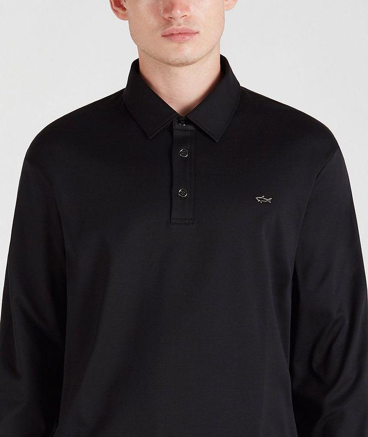 Cotton Long-Sleeve Polo image 2