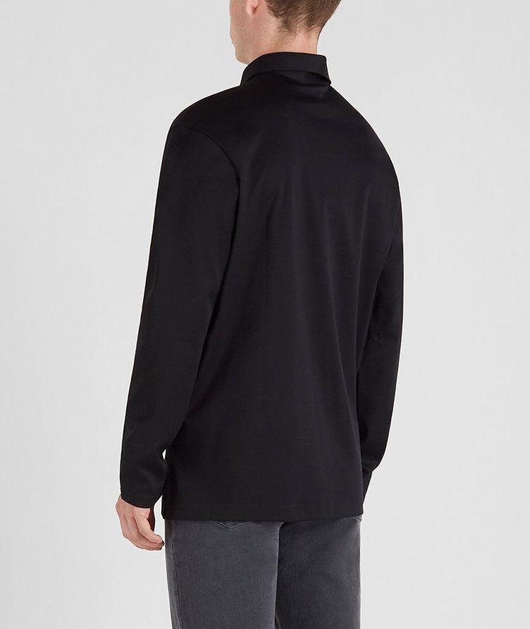 Cotton Long-Sleeve Polo image 3