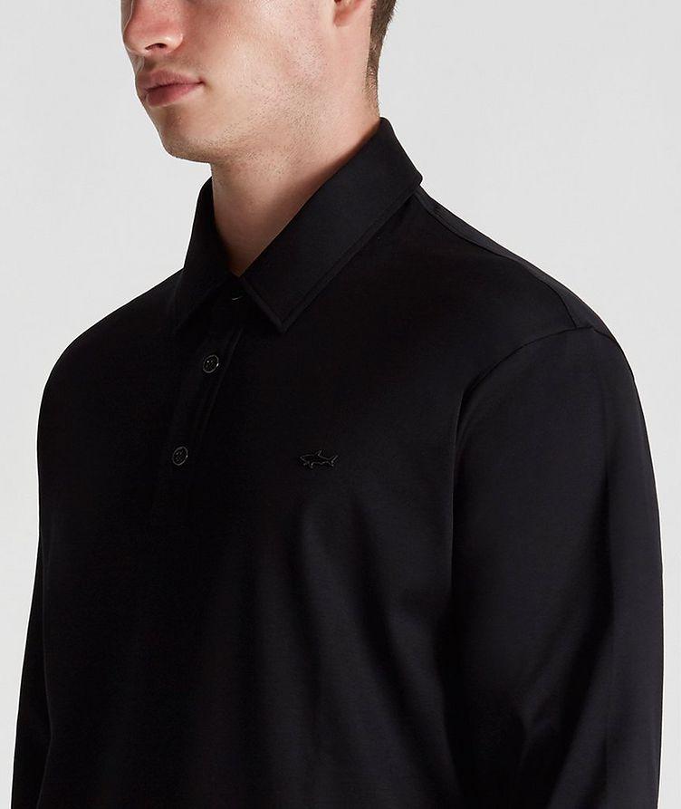 Cotton Long-Sleeve Polo image 4