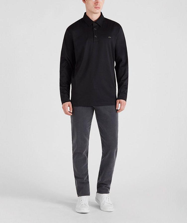 Cotton Long-Sleeve Polo image 5