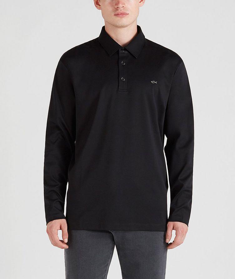 Cotton Long-Sleeve Polo image 0