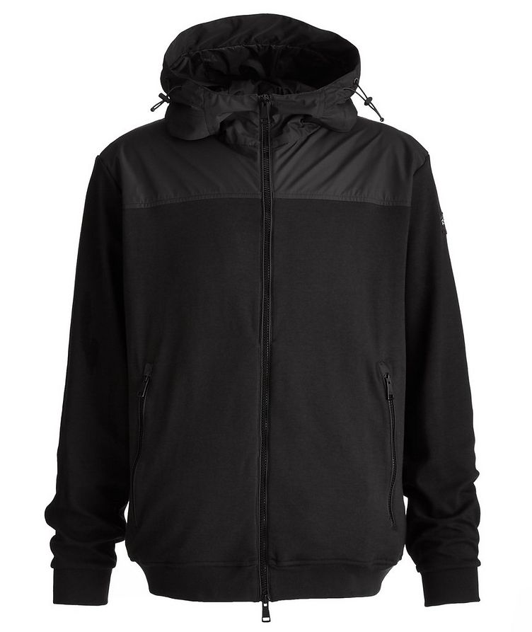 Organic Stretch Cotton Hooded Windbreaker image 0