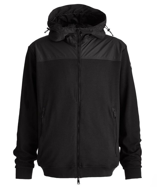 Organic Stretch Cotton Hooded Windbreaker picture 1