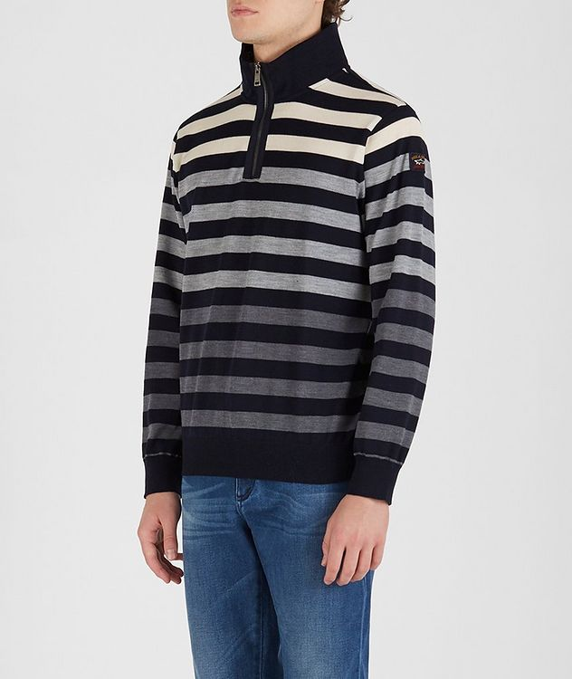 Cool Touch 4.0 Quarter-Zip Long Sleeve Wool Polo picture 2