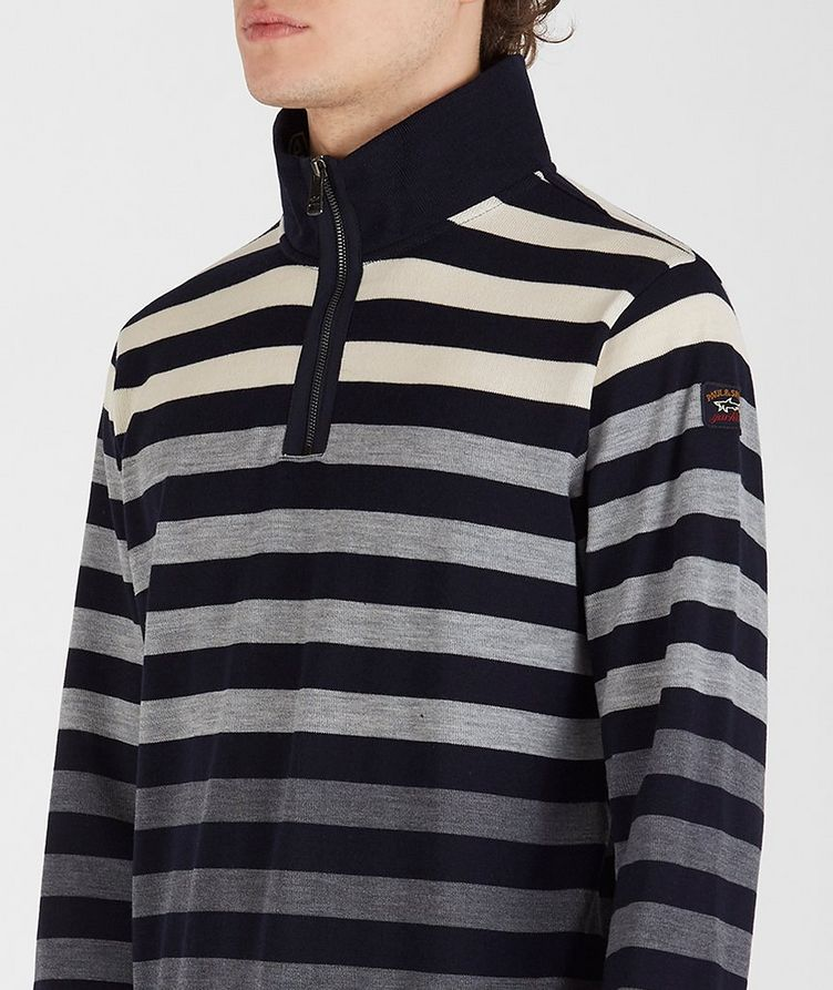 Cool Touch 4.0 Quarter-Zip Long Sleeve Wool Polo image 3