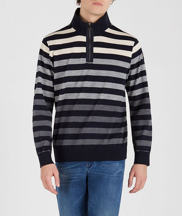 Cool Touch 4.0 Quarter-Zip Long Sleeve Wool Polo picture 1