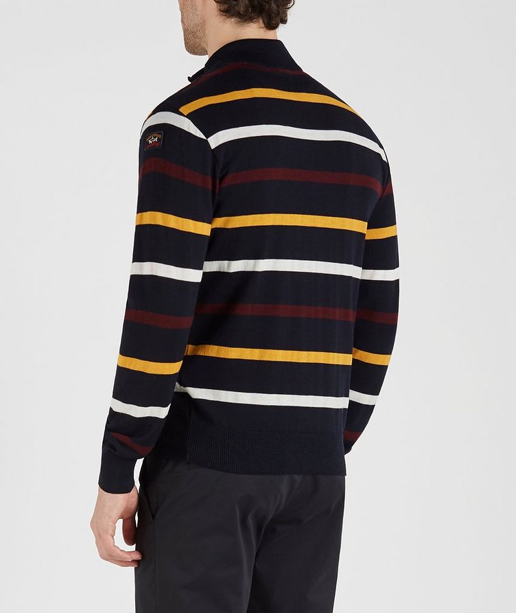 Half-Zip Striped Virgin Wool Sweater image 2
