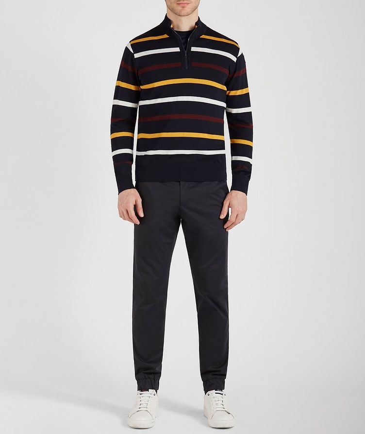 Half-Zip Striped Virgin Wool Sweater image 3