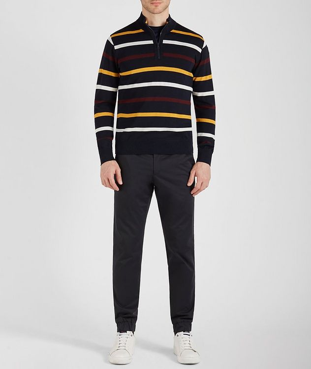 Half-Zip Striped Virgin Wool Sweater picture 4