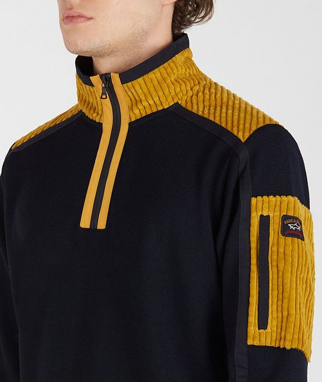 Half-Zip Corduroy Sweater picture 4